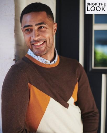 Match met je zoon in deze trui van Hampton Bays